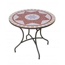 Table De Jardin Aney  En Acier Et Mosaique Structure Acier Plateau Mosaique
