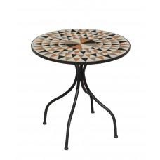 Table De Jardin Estor  En Acier Et Mosaique Structure Acier Plateau Mosaique