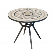 Table De Jardin Shifa  En Acier Et Mosaique Structure Acier Plateau Mosaique