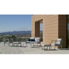 Salon De Jardin Sofa Acapulco-7+2 Finition Gris Plata Tissus Gris Clair Marilan Dralon De 4 À 6 Places