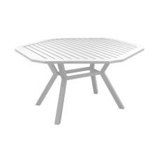 Table A Manger Brasi 150 En Aluminium Blanc