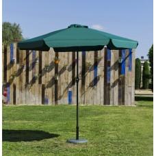 Grand Parasol De Jardin Carac  En Aluminium Mat Gris Fonce Toile Verte