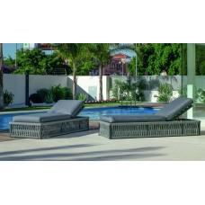 Bain De Soleil Cayman-100 Finition Anthracite/Cordage Gris Tissus Gris Clair Marilan Dralon