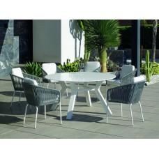 Table À Manger Montblanc-150-Krion Finition Blanc