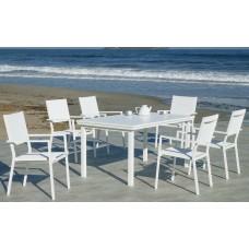 Table À Manger Neferti-160-Pleg Finition Blanc