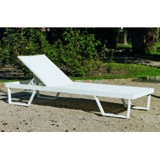 Bain De Soleil Tifanis-12 Finition Blanc Tissus Blanc Textilene