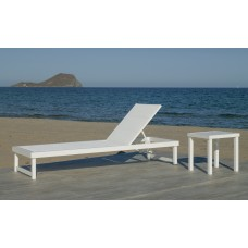 Bain De Soleil Cancun-12 Finition Blanc Tissus Blanc Textilene