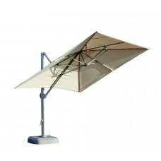 Parasol Roma-350 Finition Mat Gris Clair Tissus Toile Beige