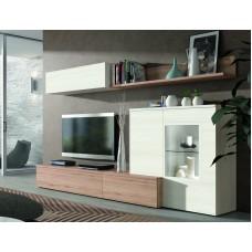 Bibliothèque Tv Lamia (503) Composée De 5 Éléments L270Xh195Cm