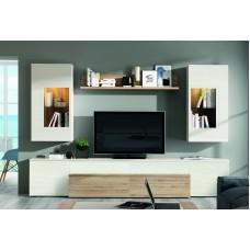 Bibliothèque Tv Karsa (515) Composée De 6 Éléments L300Xh195Cm