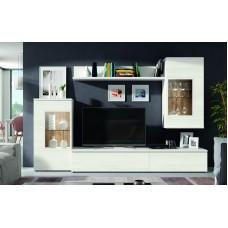 Bibliothèque Tv Corinthe (519) Composée De 5 Éléments L270Xh195Cm