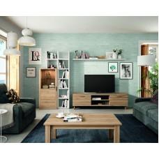Ensemble Bibliothèque Meuble Tv + Table Basse Kronos 110Plus Composé De 5 Eléments