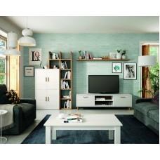Ensemble Bibliothèque Meuble Tv + Table Basse Kronos 111Plus Composé De 5 Eléments