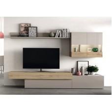 Ensemble Bibliothèque Meuble Tv Aura 206 Composé De 5 Eléments